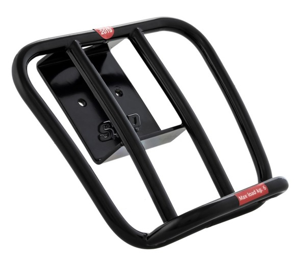 Gepäckträger hinten 70's für Vespa GTS / GTS Super HPE 125-300 ('19-), schwarz glänzend
