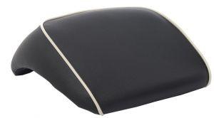 Original Rückenlehne für Topcase schwarz mit Weißem Keder Vespa GTS / GTS Super