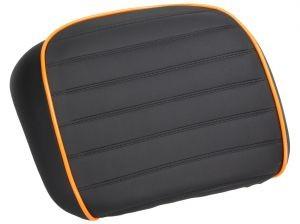 Original Rückenlehne für Topcase schwarz / orange für Vespa GTS Super Sport