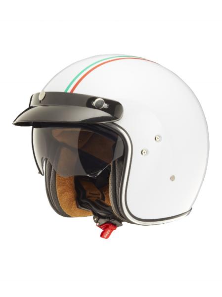 Shiro Jethelm, SH235 GT, Italy Flag, weiß