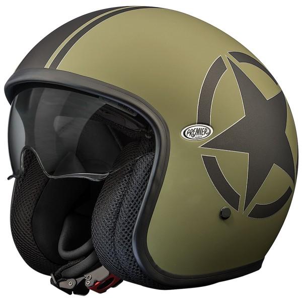 Premier Vintage Helm Star Military matt-grün