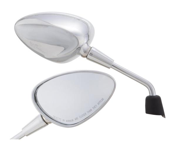 Spiegel Shorty silber rechts und links für Vespa Sprint 50-150ccm 2T/4T