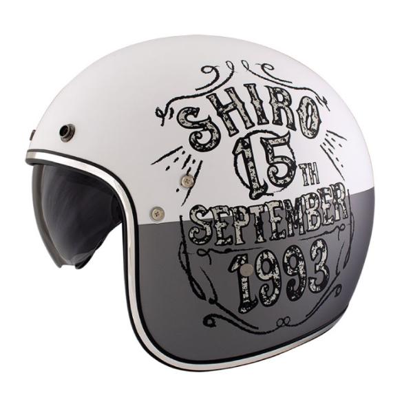 Shiro Jethelm, SH235, Born, grau, weiß, matt