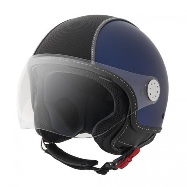 Piaggio Demi Jet Helm, Carbonskin, blau
