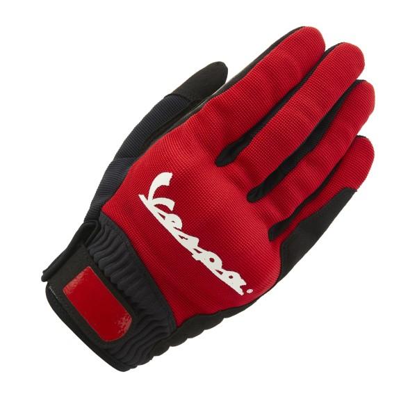 Vespa Handschuhe Color Textil rot