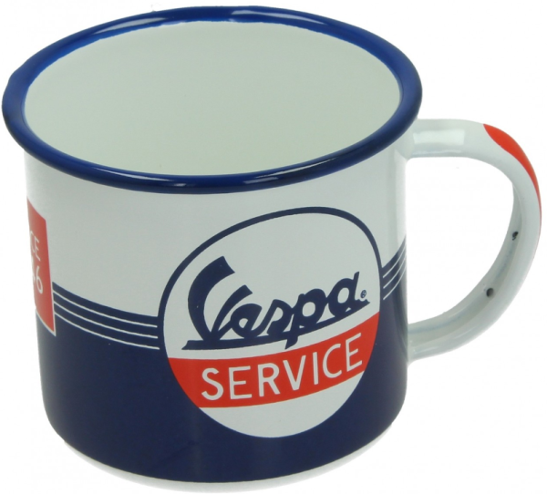 Vespa Becher Vespa Service, Emaille