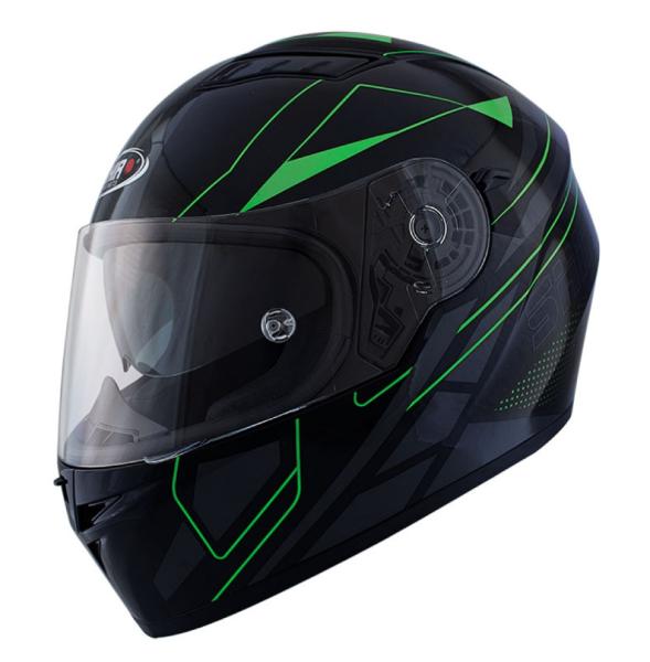 Shiro Integralhelm, SH600, Elite, schwarz matt, grün