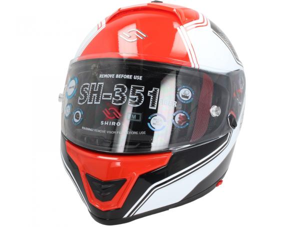 Shiro Integralhelm, SH351, Fiber, F4, rot