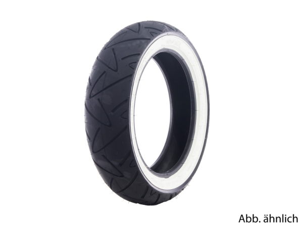 Continental Reifen 130/70-12, 62P, TL, Weißwandreifen, Twist, vorne/hinten