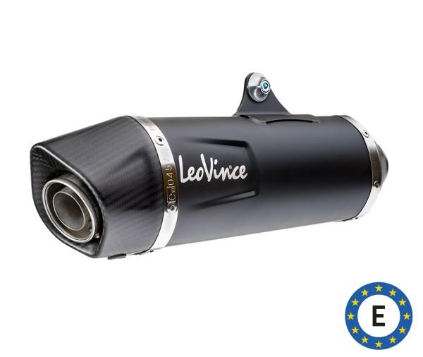 LeoVince Auspuffanlage Nero, Edelstahl, schwarz, Komplettanlage, für Vespa 300 GTS Euro 5