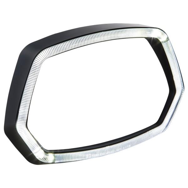 Lampenring schwarz matt LED Leuchtring für Vespa Sprint 125/150ccm 4T ('13-'18)