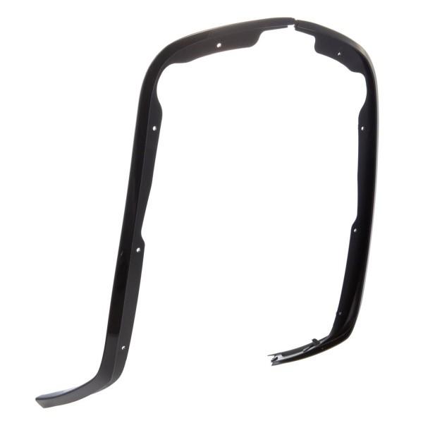 Monoschlitzrohr Beinschild schwarz glanz für Vespa Primavera/Sprint 50-150ccm