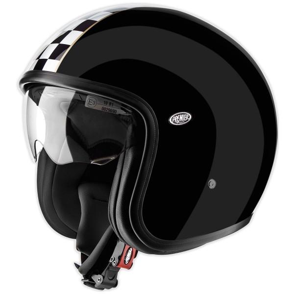 Premier Vintage Helm schwarz/weiß