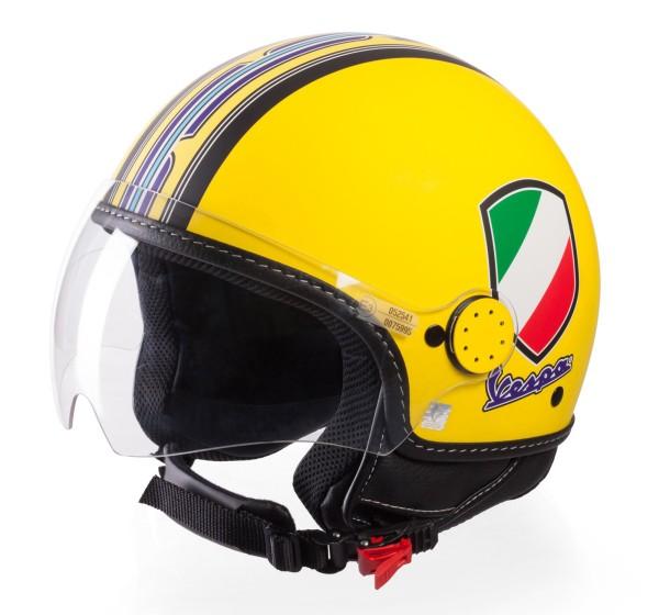 Vespa Jethelm V-Stripes, gelb