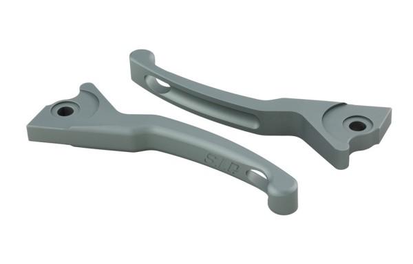 Sporthebel Set Bremse Shorty für Vespa, rechts und links, grau matt
