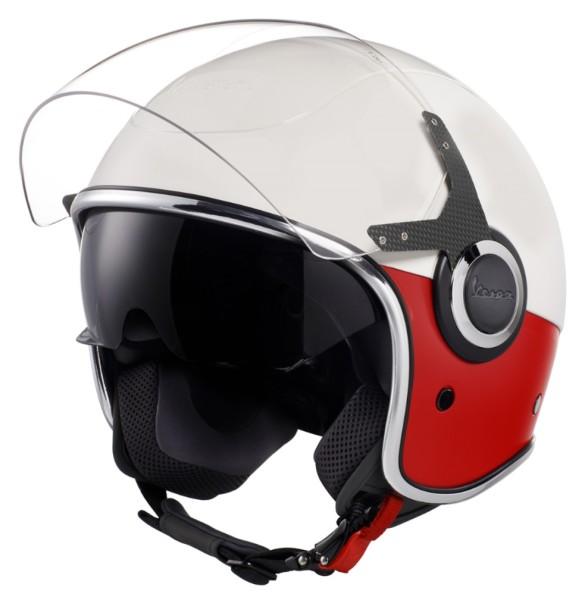 Vespa VJ Helm weiß / rot