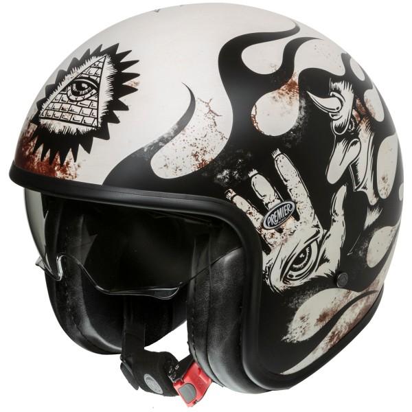 Premier Vintage Helm matt-schwarz/weiß