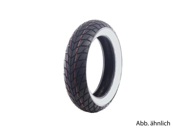 Mitas Reifen 120/70-11, 56L, TL, verstärkt, Weißwandreifen, MC20, hinten
