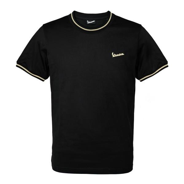 75 Jahre - Vespa T-Shirt schwarz