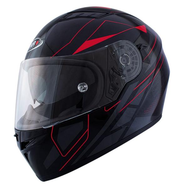 Shiro Integralhelm, SH600, Elite, schwarz matt, rot