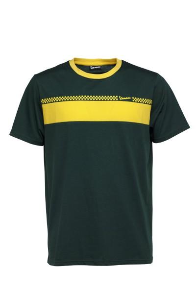 Vespa T-Shirt Racing Sixties 60s grün / gelb