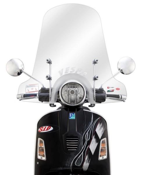 Windschild hoch für Vespa GTS/GTS Super/GT/GT L 125-300ccm, klar