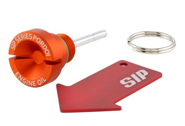 Öleinfüllschraube Motoröl für Vespa, orange matt