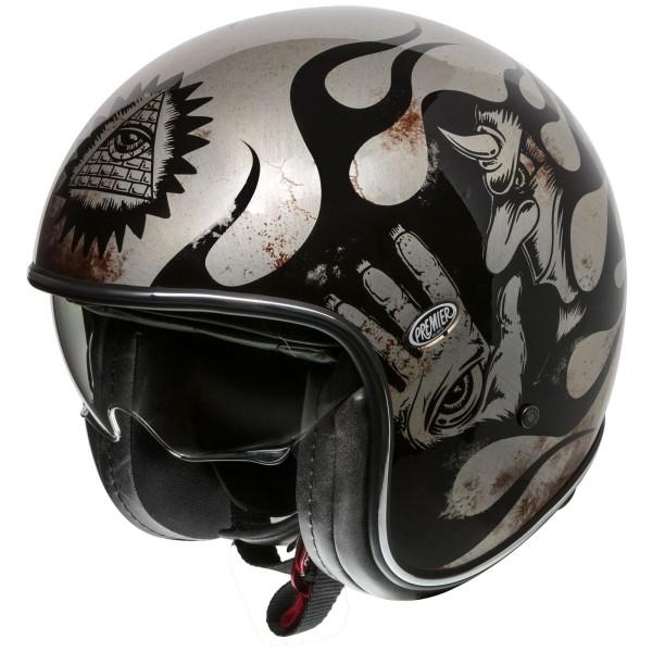 Premier Vintage Helm schwarz/titanium