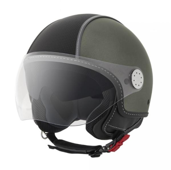 Piaggio Demi Jet Helm, Carbonskin, armee grün, matt