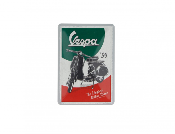 Vespa Blechpostkarte The Italian Classic
