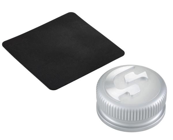 Tankdeckel für Vespa, silber matt