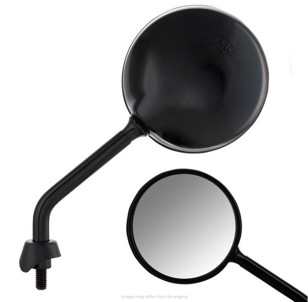 Spiegel Shorty für Vespa, schwarz glänzend, rechts und links