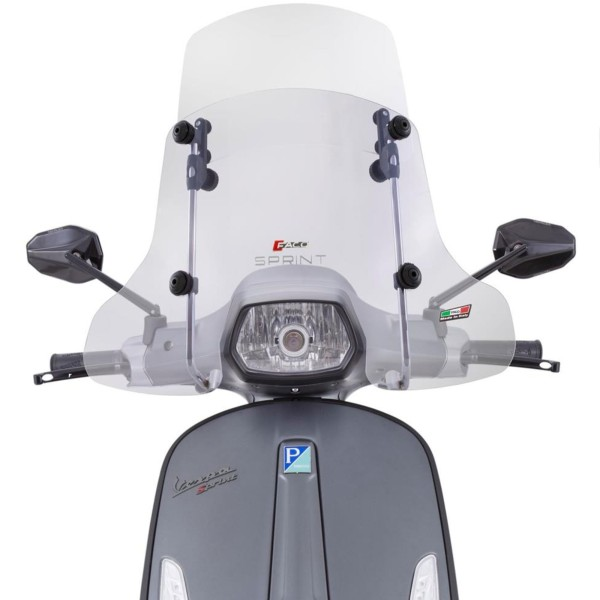 "Windschild Faco ""Twin-Screen"" für Vespa Sprint - klar"