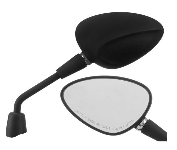 Spiegel Shorty schwarz matt rechts und links für Vespa Sprint 50-150ccm 2T/4T