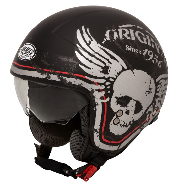 Premier Rocker Helm Skull matt-schwarz/Dekor
