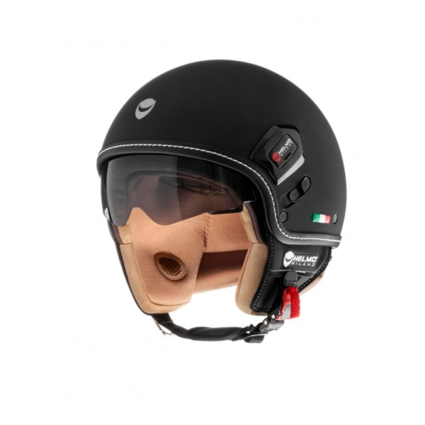 Helmo Milano Demi Jet, Puro Premium, schwarz matt