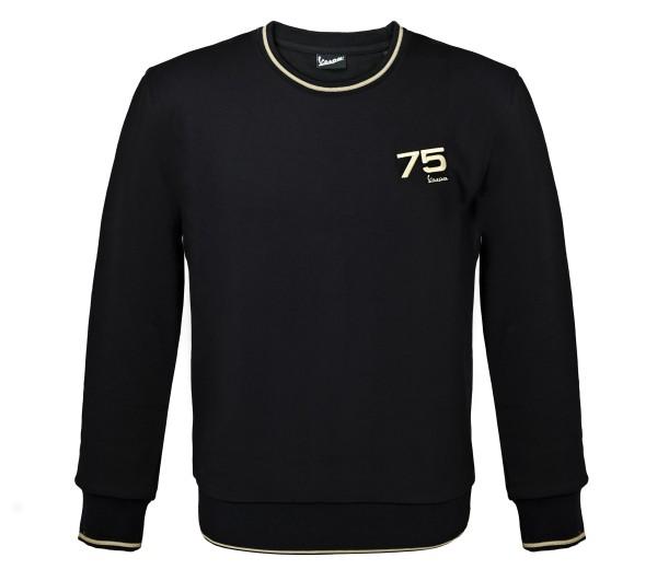 Vespa Sweatshirt 75 Jahre - schwarz