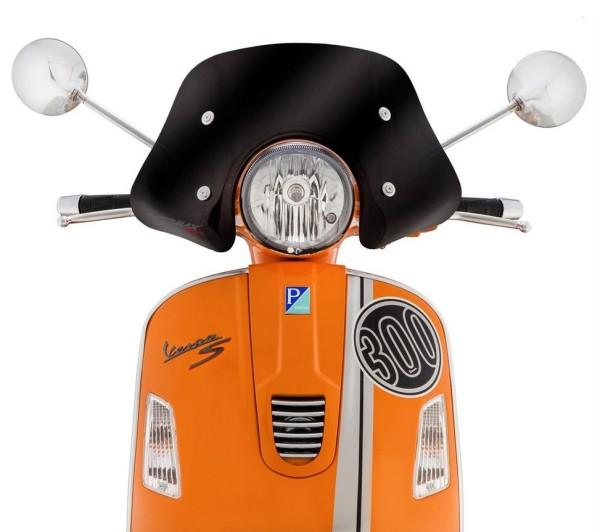 Flyscreen Piccolo für Vespa GTS/GTS Super/GT/GT L 125-300ccm, schwarz getönt