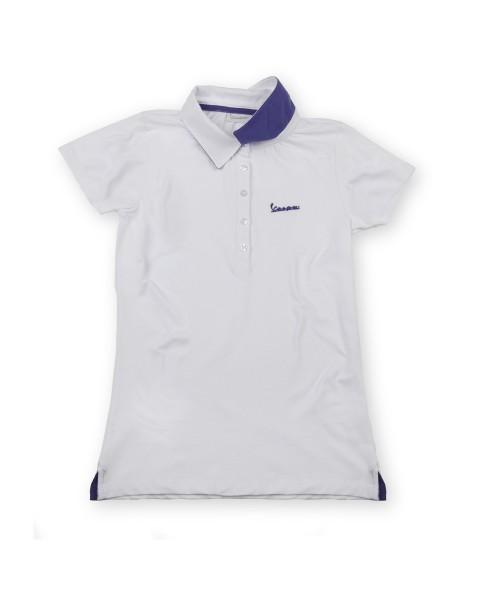 "Vespa Polo Shirt ""Vespa Logo"" Damen weiss"