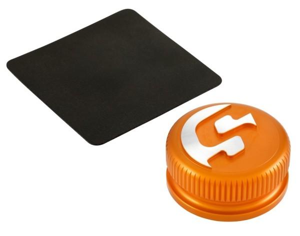 Tankdeckel für Vespa, orange matt