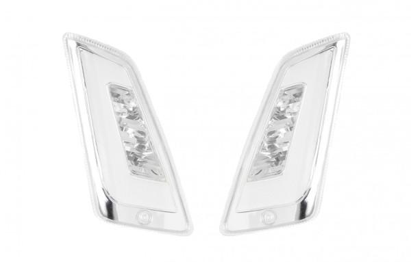 LED Blinkersatz vorne, klar für Vespa GT, GTL, GTV, GTS 125-300