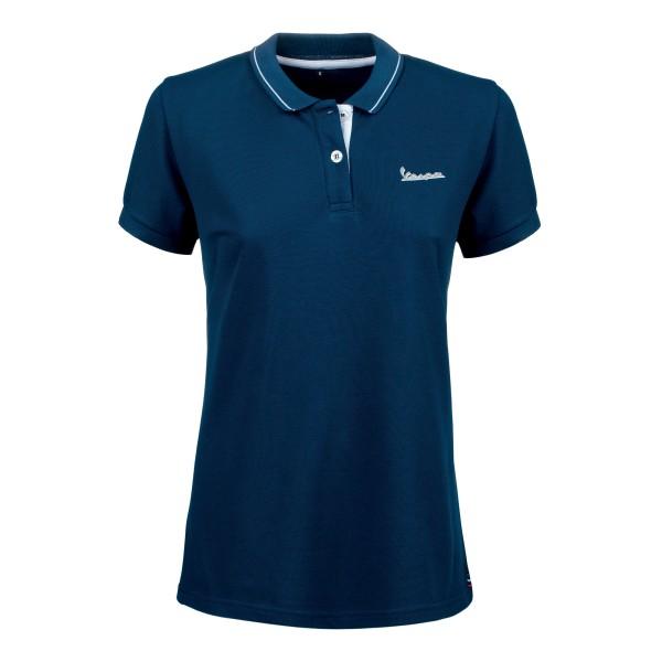 Vespa Polo Shirt Graphic Damen blau
