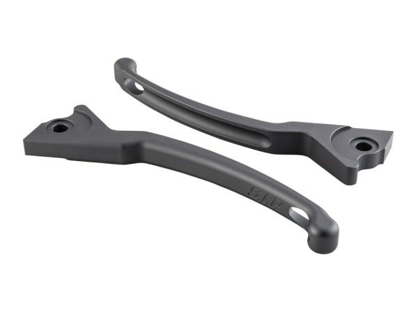 Sporthebel Set Bremse für Vespa, rechts und links, grau matt