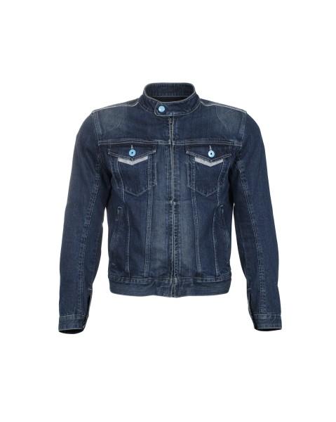 Vespa Jacke Denim Polyester-Denim blau