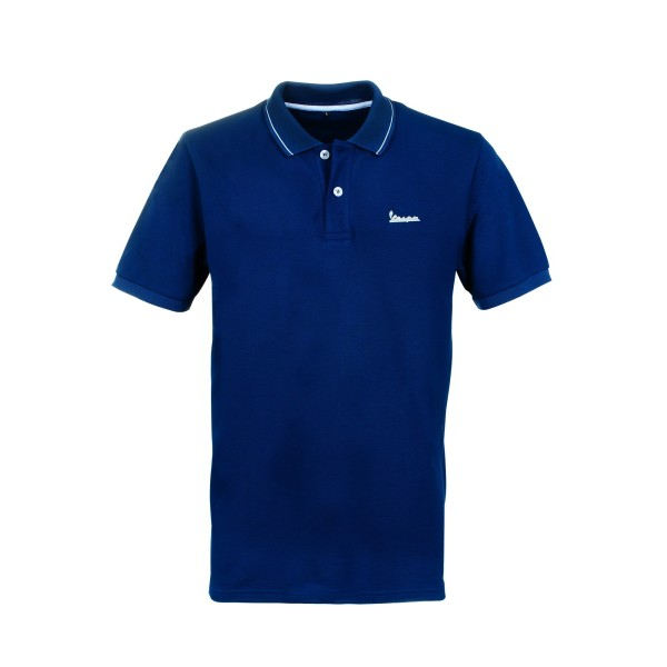 Vespa Polo Shirt Graphic Herren blau