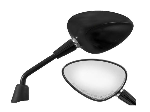 Spiegel Shorty schwarz glanz rechts und links für Vespa Sprint 50-150ccm 2T/4T