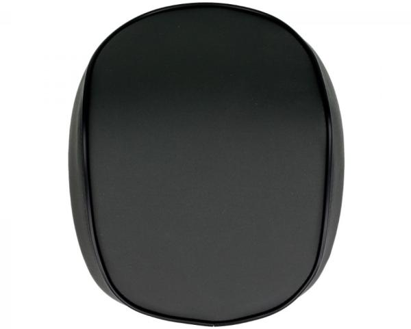 Rückenlehne Vespa Primavera / Sprint, schwarz matt mit schwarzem Keder