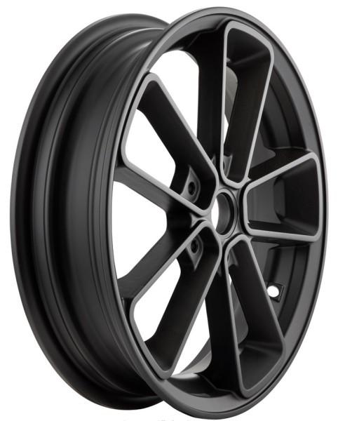 """Felge vorne/hinten 13"""" für Vespa GTS/GTS Super/GTV/GT 60/GT/GT L 125-300ccm, schwarz matt"""