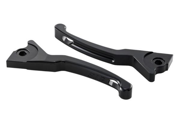 Sporthebel Set Bremse Shorty für Vespa, rechts und links, schwarz