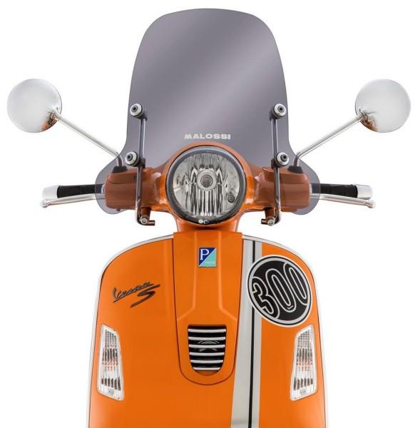 Windschild Sport Screen für Vespa GTS/GTS Super/GT/GT L 125-300ccm, halbhoch, getönt